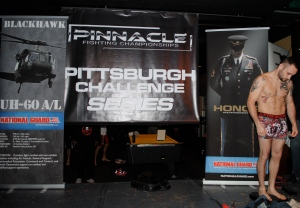 MMA Fighter Charles Kessinger weighing in at the Pinnacle Fighting Championships Series on Dec. 29th