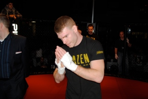 MMA Fighter Paul Felder after his TKO win against Khama Worthy