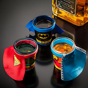Superhero Shot Glasses Knuckle dRagger Magazine