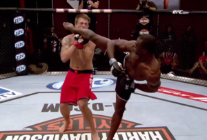 uriah hall knocks out adam cella knuckle dragger magazine
