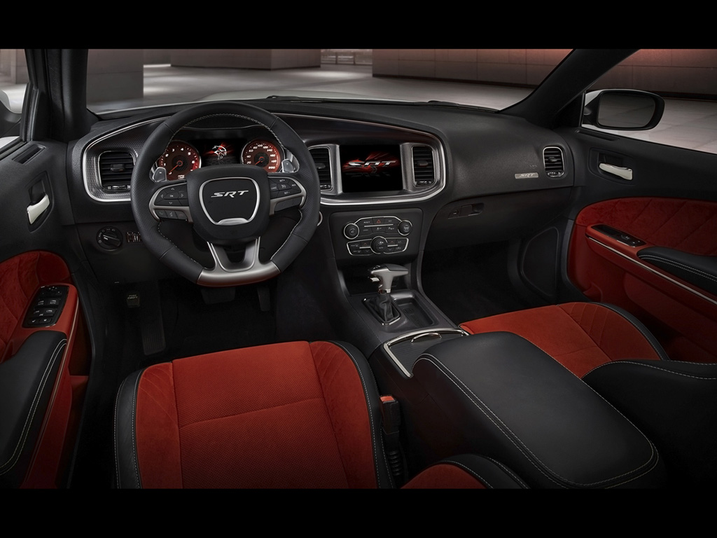 2015 Dodge Charger Srt Hellcat Shown In Ruby Red Alcantara Sued