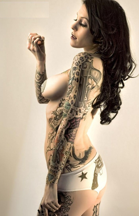 Hot full body tattoos nude Such
