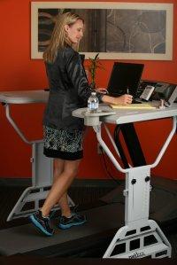 treadmill desk girl